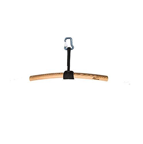 eaglefit Klimmzugstange ergonomisch geformt, 60 cm, mit Seil und Karabiner - Made in Germany