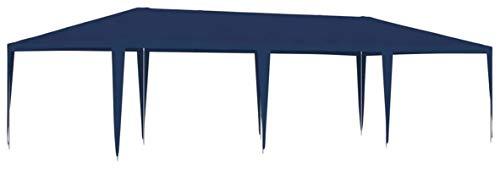 ZHENG Gazebo Plegable Carpas Plegables Tabla Al Aire Libre Jardín Patio Marquese Toldo Shelter 4x9m Azul