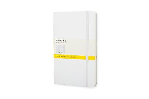 Moleskine farbiges Notizbuch (Pocket, Hardcover, kariert) weiss