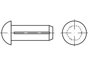 DIN 1476 1.4303 (A 2) Halbrundkerbnägel - Abmessung: 2x6 (100 Stück)