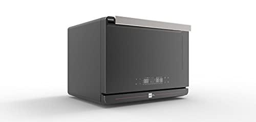 Miji – Horno de vapor (diseñado en Alemania) – Horno combinado (40 programas, calor superior e inferior y recirculación), horno con función de vapor para cocer, hornear y asar, pequeño y compacto