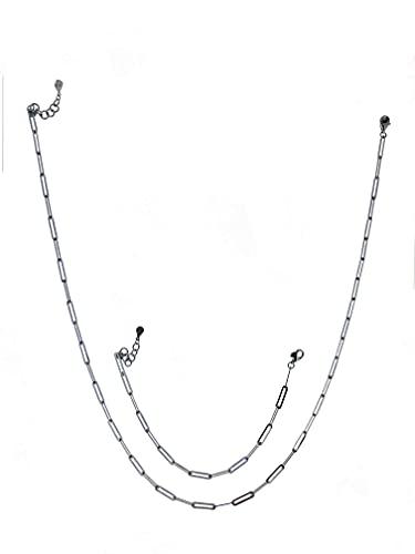 Bulvardi Traje plateado de plata de 925 quilates con clip de papel fino, de alta calidad, con revestimiento especial contra la atenuación, regalo adecuado para madres, amantes, novias