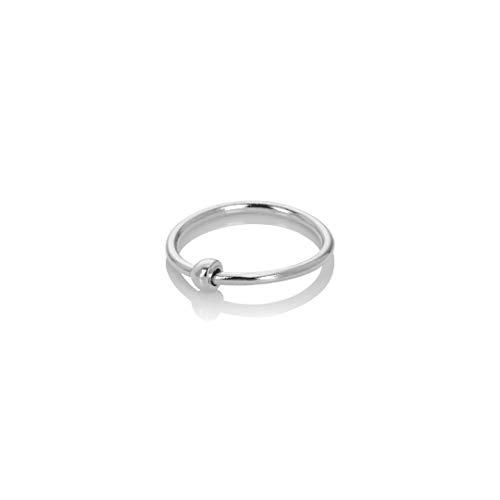 Mia Gioielli - Piercing anillo aro nariz ø 8 mm de oro 18 k (750) blanco – hipoalergénico unisex