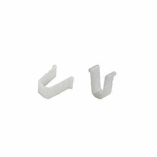 rewagi Hochwertige Endfeststeller 10x12 mm (12 Stück) - für Gardinenschienen, Vorhangschienen - Farbe weiß - Verkaufseinheit: 6, 12, 18, 24, 30, 36, 42, 48, 54, 60 Stück (12 Stück)