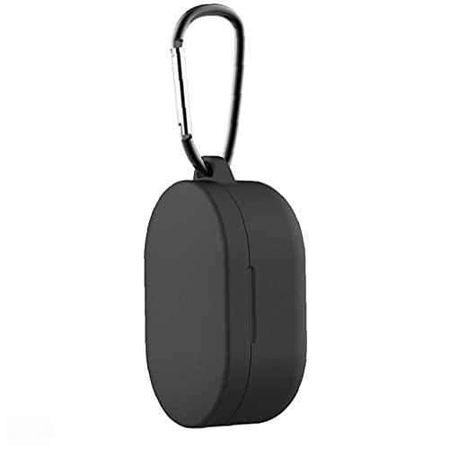 Auriculares Casecompatibilidad con silicona con la cubierta protectora de Airdots 3 Bluetooth auriculares livianos-Negro