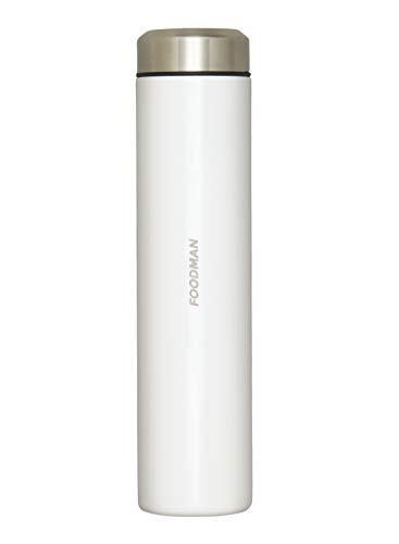 シービージャパン 水筒 ミニ ボトル ホワイト ステンレス 180ml 直飲み 内面 テフロン 加工 フードマン DSK