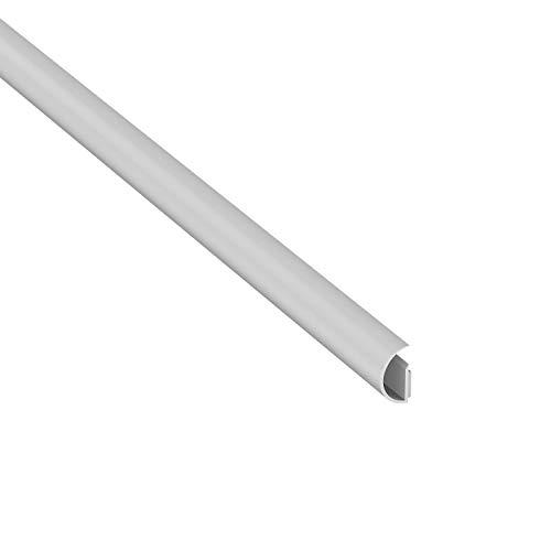 D-Line Micro+ CableTraC, Beliebter Kabelhalter, Lösung zum Sortieren von Kabeln, Flexibler Kabelkanal – 20 mm (B) x 10 mm (H) x 1 Meter (L) – Weiß 1MCT2010W