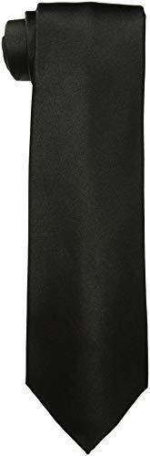 Corbata extra larga de seda para hombre grande y alto, color sólido, 160 cm XL o 178 cm XXL - Negro - Extra Largo (160 cm)