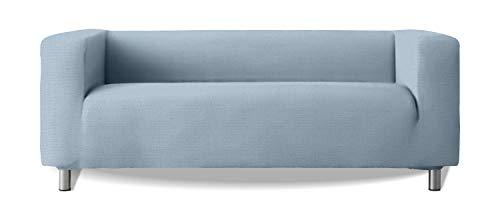 Funda de sofá Modelo Klippan Brazos Sofa Altos Tejido elástico Suave New York - Color 24 Azul cesleste