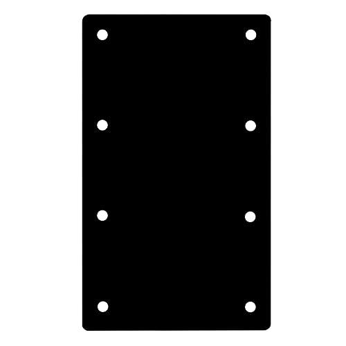 4 Packs 9¼'L x 4½'W Black Flat Straight Mending Bracket Plate, Steel Joint Thickness 2.9mm, Flat Mending Repair Tie Plate Corner Brace for Furniture, Wood Timber Connectors, Screws not Included
