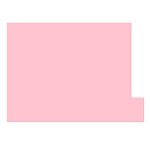 仕切りガイド【A4ヨコ型 [ラテラル] 】書類 棚 カルテフォルダー 仕切り板 整理 トレー 10枚セット (ピンク)