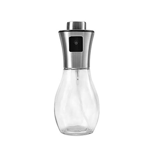 Pulverizador de aceite de oliva, herramienta de cocción de barbacoa portátil Transparente Spray Botella de aceite Herramienta de cocina Herramienta de vidrio Bomba de oliva Botella de aerosol 200ml 09
