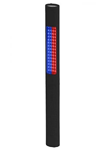 Nightstick Safety Light/LED Flashlight,Red/Blue Flood,150 Lumens, Black NSP-1170