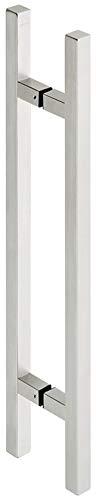 Gedotec Design stootgreep, schuifdeur, glazen deurgreep, kamerdeur, deurbeslag, roestvrij staal, mat | stanggreep, lengte 600 mm, handgreep voor glazen deuren en houten deuren, 1 stangengreep met bevestigingsmateriaal