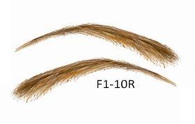 Semi-permanente Augenbrauen aus 100% Echthaar zum Aufkleben - handgemacht, F1-10R