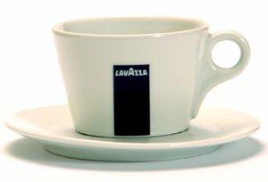 Lavazza Milchkaffee-Tasse mit Untertasse