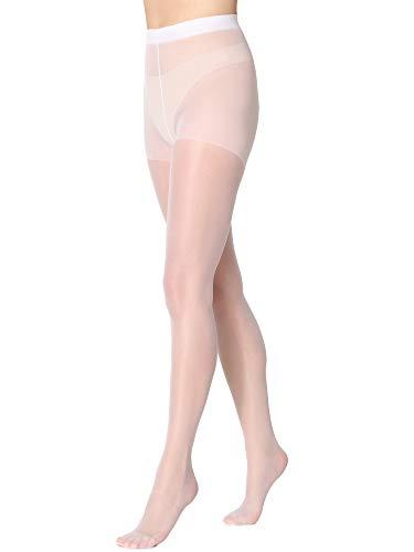Merry Style Damen Strumpfhose 15 DEN MSFI019 (Weiß, 5-XL)