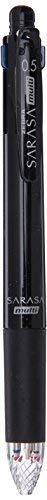 Zebra Multi Function Sarasa 4{S Black/Red/Blue/Green Ink 0.5mm Ballpoint Pen 0.5mm Mechanical Pencil Black Body 2 Set