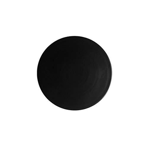 Mrjg Platos 1 unids Placa de cerámica Plato de Plato de Pizza Redondo Platos de Cena Cuadrados creativos rectángulo de Sushi Plato 10/11 / 11.5 Pulgadas (Color : Round Black, Plate Size : 11.5 Inch)