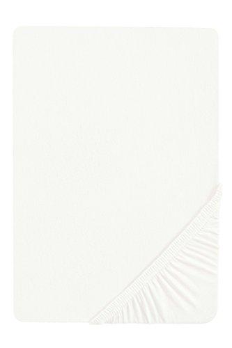 biberna 0077144 Feinjersey Spannbetttuch (Matratzenhöhe max. 22 cm) (Baumwolle) 180x200 cm -> 200x200cm, weiß
