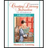 Creating Literacy Instruction for All Students in Grades 4 to 8 (2nd, 08) by Gunning, Thomas G [Paperback (2007)]