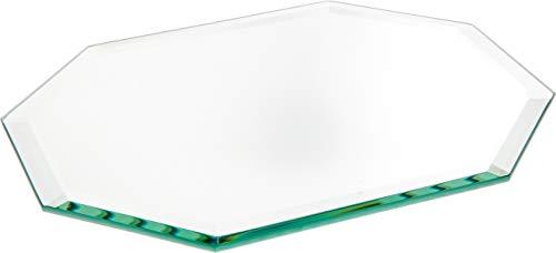 Plymor Long Octagon 5mm Beveled Glass Mirror, 7 inch x 9 inch