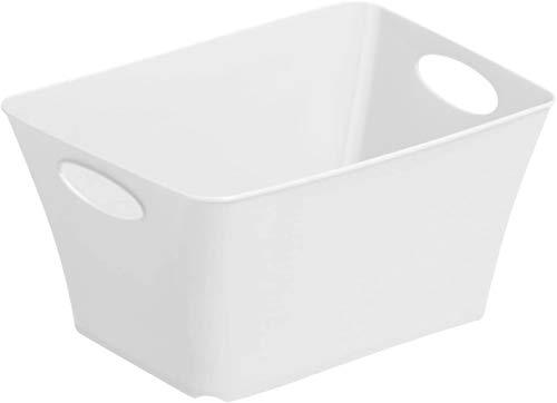 Rotho Living kleine Aufbewahrungsbox 1.5l, Kunststoff (PP) BPA-frei, weiss, 1,5l (18,0 x 13,4 x 9,0 cm)