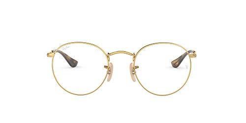 Ray-Ban 0rx 3447v 2500 47 Monturas de Gafas, Gold, Hombre