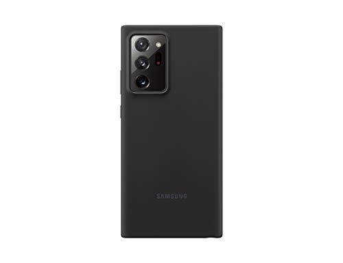 Samsung Silicone Smartphone Cover EF-PN985 für Galaxy Note20 Ultra 5G Handy-Hülle, Silikon, Schutz Hülle, stoßfest, dünn & griffig, schwarz - 6.9 Zoll