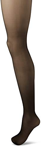 Wolford Damen Individual 10 Back Seam Transparente Strumpfhose, Klassiker hauchdünn matt gestickte Naht elegant feminin,7005 black,Large (L)