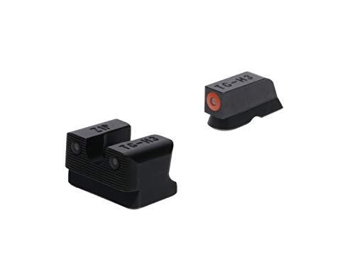 TRUGLO Tritium Pro Glow-in-The-Dark Handgun Night Sights for CZ Pistols, CZ 75 Series, Orange Ring, one Size