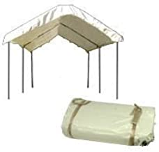 10'x20' Ft Canopy Replacement White Cover Top Roof Tarp with Bungee For Party, Car, Boat, Jetski or Trade Show