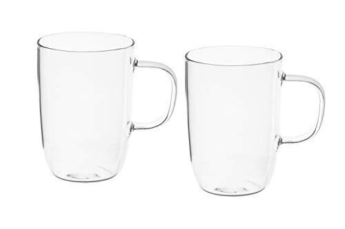 Magnifique Lot de 2/tasses en verre avec Motif licorne et paille