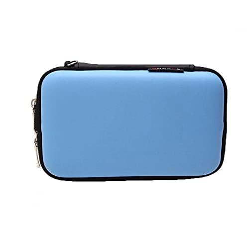 FeelMeet Bolsa Drive Externo portátil de 2,5 Pulgadas de múltiples Funciones de la Bolsa del Cable del Auricular Accesorios de Almacenamiento Digital Mini Bolsa Azul