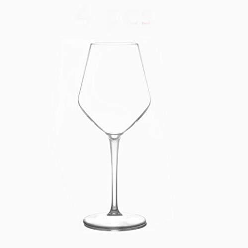 Copas de copa de vino de plástico de silicona irrompible transparente americana de plástico Bar Copas para el hogar