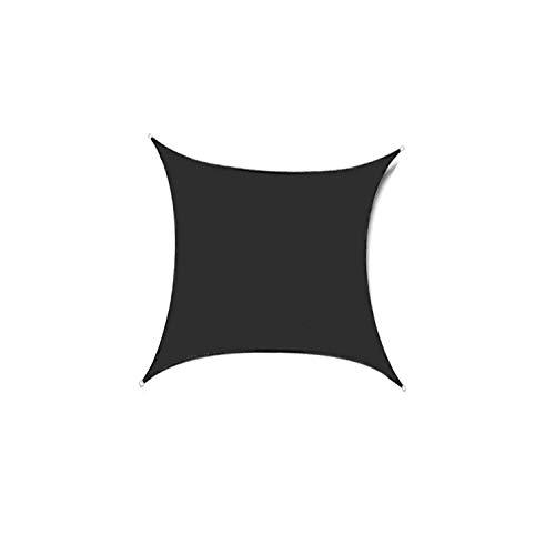 DIANPU Velas De Sombra para Patio, Cuadradas Impermeables Protección Solar Y Protección UV Velas De Sombra para Jardín De Patio Al Aire Libre (3.6m*3.6m,Negro)
