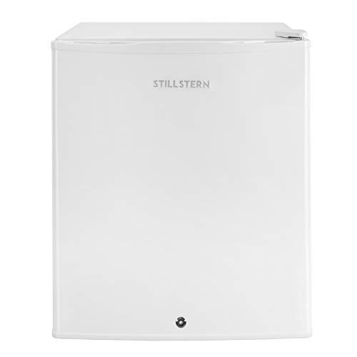 Stillstern Mini-Kühlschrank mit Schloss A++ (54L) und Abtauautomatik, LED-Innenbeleuchtung, Frostfach, Eierablage, Türablagen, Leise, Kühlschrank