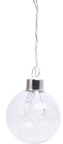 20-delige led-lichtketting met sneeuwvlokpatroon.