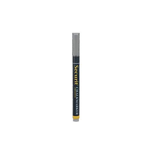 SECURIT Feutre-Craie 1-2 mm à Encre Liquide effaçable pour vitrine Ardoise hôtel Restaurant (à l'unité) - Argenté - 14,5