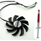 Video Card Dual Fan For Sapphire Radeon HD 7790 7870 7950 Series New Notebook Replacement Accessories P/N FD7010H12S E317388 DC 12V 0.35AMP