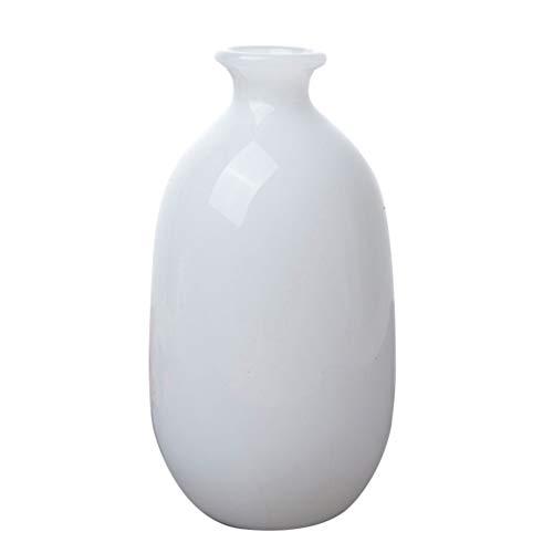 BESPORTBLE Jarrón de flores blanco pequeño y moderno sencillo con diseño minimalista para el hogar, la oficina o la casa, estilo 3