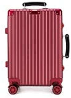 GLJJQMY Luggage Box for Men and Women Trolley Aluminum Frame Luggage Universal Wheeled Lock Password Box Trolley case (Color : Red, Size : 20 inch)