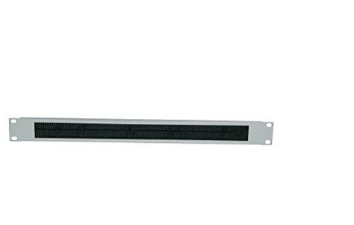 LogiLink Professional ORCEB1G 19 Zoll Kabeldurchfhrungspanel, 1 HE, lichtgrau
