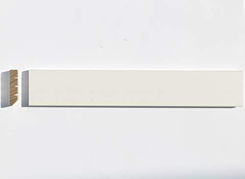 BATTISCOPA in LEGNO MASSELLO TOULIPIER mm. 45X10 Laccato RAL 9010