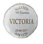 100 Jaboncitos Personalizados para Comunión-boda-bautizo en rosa, azul u oro (ORO)