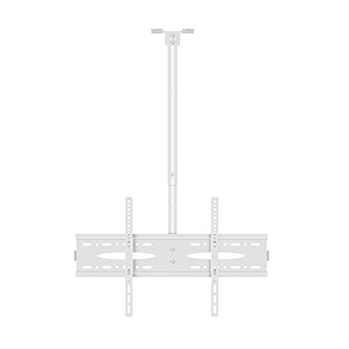 Soporte de TV Blanco TELEVISOR Percha 40 '-60 'TELEVISOR Montaje en techo Tilt Rotationbracket altura ajustable TELEVISOR Montaje en techo, max VESA 60 0x400mm y sostiene hasta 110 libras Soporte de T