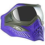 V-Force Grill SC Paintball Mask Goggle w/Chrome HDR Lens - Charcoal on Purple