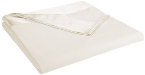 Shavel All Seasons Year Round Sheet Blanket with Satin Hem, Full/Queen, Ivory