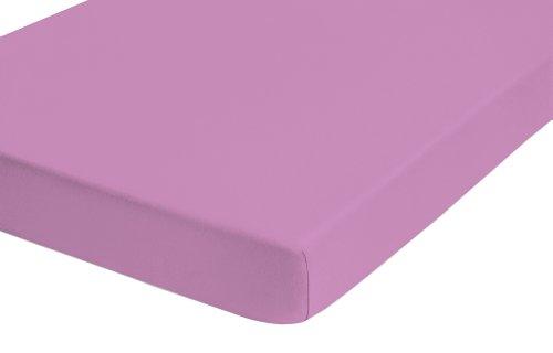 Preisvergleich Produktbild biberna 0077144 Feinjersey Spannbetttuch (Matratzenhöhe max. 22 cm) (Baumwolle) 140x200 cm -> 160x200 cm,  orchidee