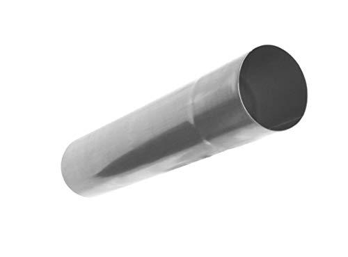 Regenablaufrohr Titanzink 1 Meter Stück in den Größen 60, 76, 80, 87 und 100 mm (100 mm)